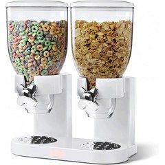 Dispenser de cereale dublu cu capacitate de 7 litri