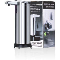 Dozator dispenser metalic de sapun automat  cu senzor infrarosu