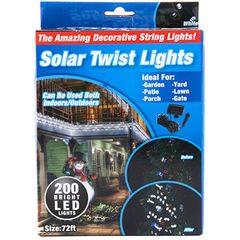 Instalatie cu incarcare solara Twist Lights, 200 de LED-uri