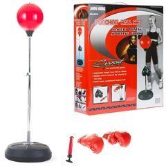 Sac de box cu manusi pentru copii sau adulti + pompa Punching Ball Set