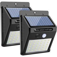 Set 2 Lampi Solare cu 30 LED, inclus senzor de miscare si senzor de lumina