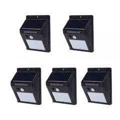 Set 5 lampi solare cu 30 LED-uri SMD,senzor de miscare si senzor de lumina