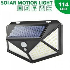 Lampa solara de perete cu senzor de lumina si miscare 114 LED
