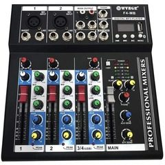 Mixer audio digital profesional fara amplificare cu 4 canale si Bluetooth WVNGR F4-MB