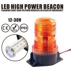 Girofar cu magnet si stroboscopic luminos pe LEDuri SMD 12-30V lumina portocalie