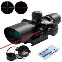 Luneta profesionala cu laser rosu ACM si reticul iluminat 2.5-10*40E