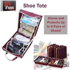 Organizator incaltaminte cu 6 compartimente tip geanta, Shoe Tote