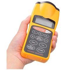 Ruleta digitala cu ultrasunete, pointer laser si afisaj LCD