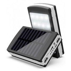 Baterie externa 20000 mAh cu incarcare solare si lanterna de 20 LED-uri