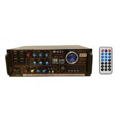 Amplificator profesional tip statie 80 watti,cu Bluetooth, Radio FM,USB si suport SD Card