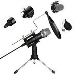 Microfon profesional de Studio cu condensator si mini trepied, WG-500II