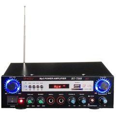 Amplificator audio tip statie BT-7388, cu Bluetooth, suport Card SD si port USB