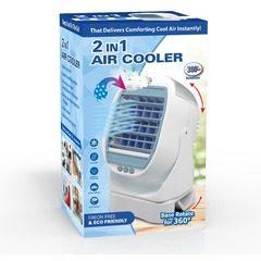 Racitor de aer portabil 2 in 1 cu vaporizator si rotatie 360, Air Cooler