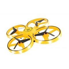 Mini drona anticoliziune cu control prin gesturi, rotire 360 grade si leduri incorporate