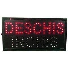 Panou cu reclama luminoasa LED Deschis-Inchis, 48,5 x 25.5 cm